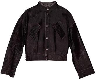 Giorgio Armani Burgundy Leather Jackets