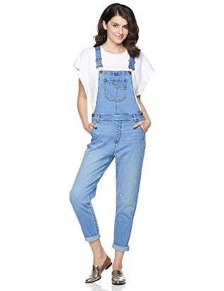 PD Peppered Denim Women's Classic Adjustable Strap Denim Bib Overall XS
