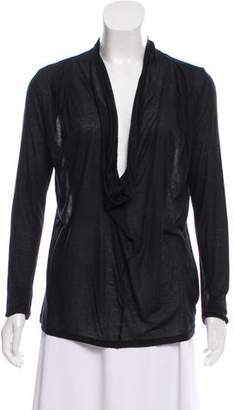 Robert Rodriguez Semi-Sheer Long Sleeve Top