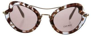 Miu Miu Tortoiseshell Tinted Sunglasses w/ Tags