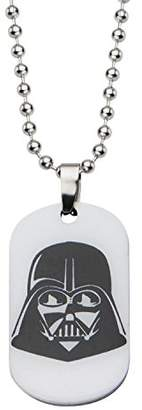 Star Wars Jewelry Unisex Darth Vader Glow in the Dark Dog Tag Kid's Pendant Necklace