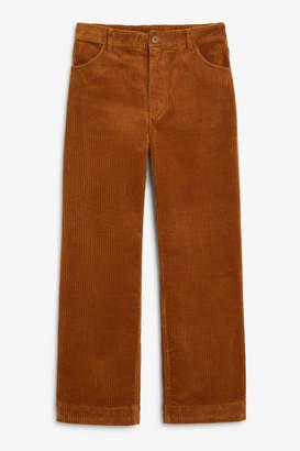 Monki Wide leg corduroy trousers