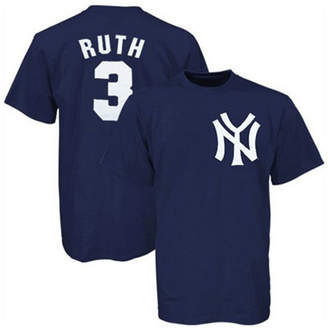 Majestic Men New York Yankees Cooperstown Player Babe Ruth T-Shirt