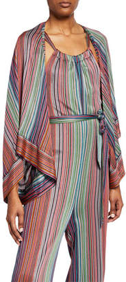 Trina Turk Daybreak Striped Long-Sleeve Raschel Knit Jacket