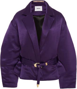 Nanushka Mantra Knotted-Belt Jacket