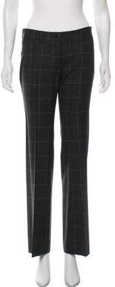 Dolce & Gabbana Plaid Wide-Leg Pants