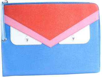 Fendi Blue Leather Clutch Bag