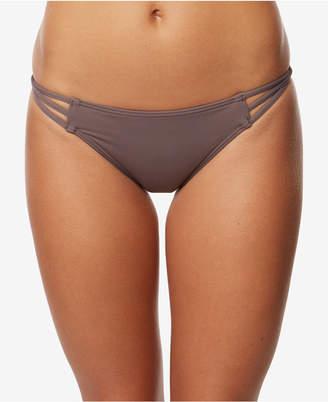 O'Neill Juniors' Salt Water Solid Strappy Cheeky Bikini Bottoms