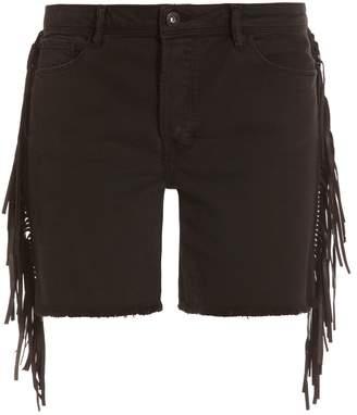 Each X Other Leather Fringe Shorts