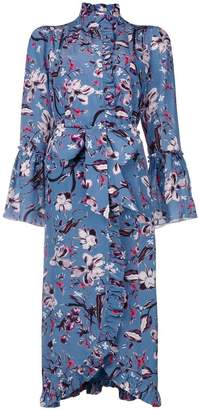 Erdem floral print wrap dress