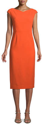 Diane von Furstenberg Cap-Sleeve Midi-Length Sheath Dress