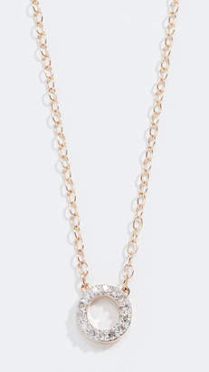 Mateo 14k Mini Diamond Circle Necklace
