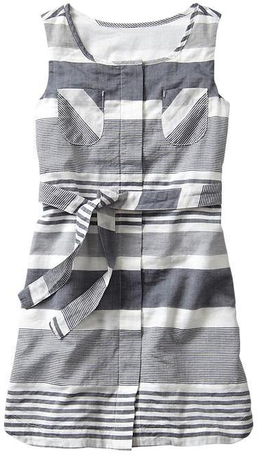 Gap Multi-stripe belted dress