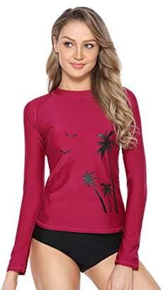 Marina Threads Womens Rash Guard Swim Shirt Sun Shirts Swimwear Long Sleeved Water Shirts