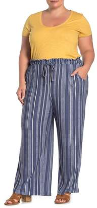 Planet Gold Patterned Brushed Jersey Palazzo Pants (Plus Size)