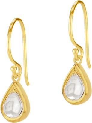 Amrapali Legend Kundan Vintage Diamond Teardrop Drop Earrings