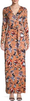 Diane von Furstenberg Long Sleeve Floral Print Dress