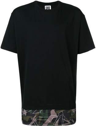 Les Hommes Urban camouflage hem T-shirt