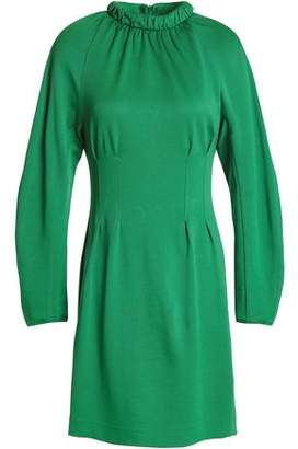 Tibi Cutout Gathered Stretch-Jersey Mini Dress