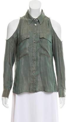 Veronica Beard Long Sleeve Button-Up Blouse