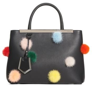 Fendi Petite2Jours Genuine Mink Fur & Leather Shopper - None