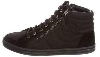 Chanel Canvas High-Top Sneakers