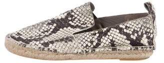 Vince Embossed Leather Espadrilles