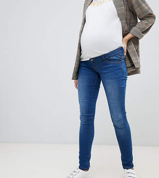 Mama Licious Mama.Licious Mamalicious maternity over the bump skinny jean in blue