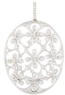 Cathy Waterman Platinum Diamond Daisy Medallion Pendant