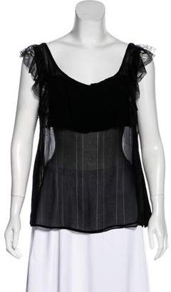 Stella McCartney Lace-Trimmed Sleeveless Blouse