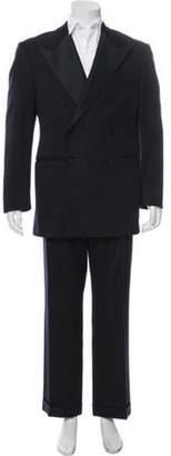 Ralph Lauren Purple Label Double-Breasted Wool Two-Piece Suit navy Double-Breasted Wool Two-Piece Suit