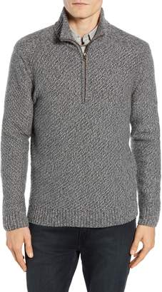 Billy Reid Cashmere Half Zip Sweater