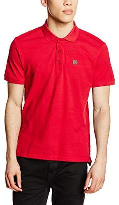 Voi Jeans Men's Beach Plain Short Sleeve Polo Shirt, Red (True Red)