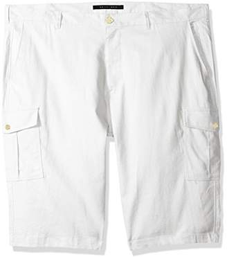 Sean John Men's Tall Size Solid Linen Cargo Shorts