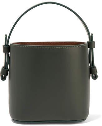 Nico Giani - Adenia Mini Leather Bucket Bag - Forest green