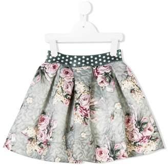 MonnaLisa floral print flared skirt