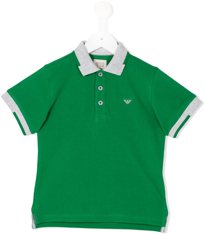 Armani Junior Armani Junior contrast collar polo shirt