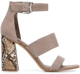 KENDALL + KYLIE Kendall+Kylie Jayne python block heel sandals
