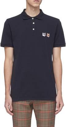MAISON KITSUNÉ Double fox head appliqué polo shirt