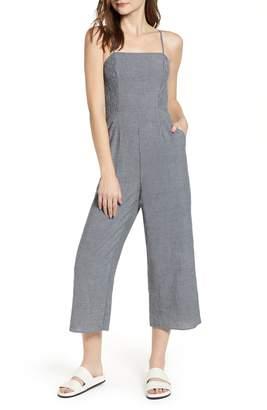 The Fifth Label Laneway Stripe Smocked Crop Jumpsuit