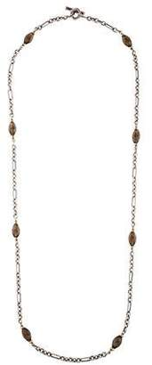David Yurman Smoky Quartz Figaro Chain Necklace