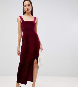 fe4e5cfceb Asos Tall DESIGN Tall velvet square neck maxi dress