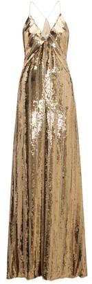 Galvan Stardust Sequinned Maxi Dress - Womens - Gold