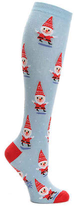 Sock It To Me Santa Gnome Knee Socks - Women's