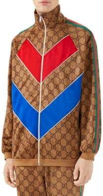 Gucci GG Technical Logo Jersey Jacket