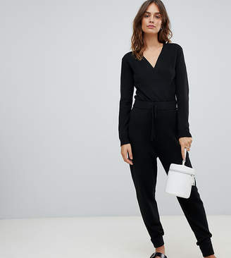 Micha Lounge jumpsuit with wrap front