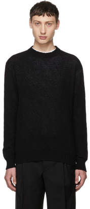 Prada Black and Grey Cashmere Sweater