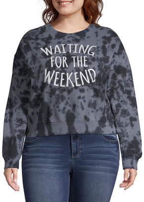 Freeze Waiting for the Weekend Sweatshirt - Juniors Plus