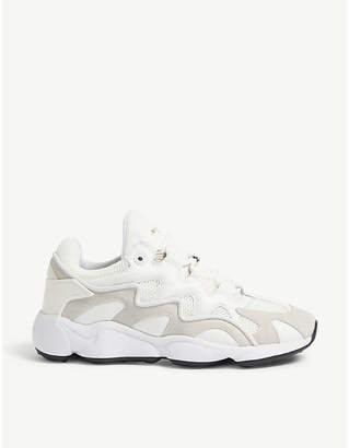 Sandro Atomic leather trainers