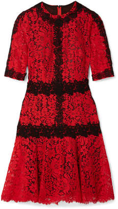 Dolce & Gabbana Cotton-blend Lace Mini Dress - Red